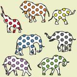 Fundo para miúdos com elefantes pontilhados Imagem de Stock