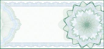 Fundo para o certificado de presente, vale Imagens de Stock