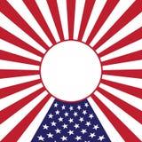 Fundo para o Dia da Independência do feriado o 4 de julho. Fotografia de Stock