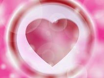 Fundo para o dia de Valentim com corações. Fotos de Stock