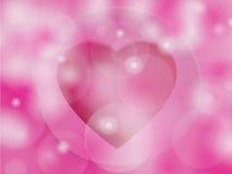 Fundo para o dia de Valentim com corações. Foto de Stock Royalty Free