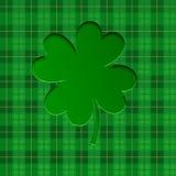 Fundo para o dia do ` s de St Patrick com trevos afortunados Ilustração do vetor ilustração do vetor