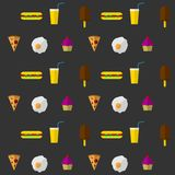 Fundo para o fast food Foto de Stock