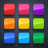 Fundo para o grupo do ícone-vidro do app Foto de Stock Royalty Free