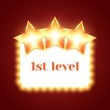 Fundo para o jogo com estrelas brilhantes Foto de Stock Royalty Free