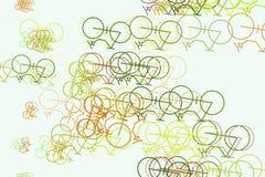 Fundo para o página da web, o projeto gráfico, o catálogo ou a textura, esboço tirado mão da bicicleta Detalhes, papel de parede, ilustração do vetor