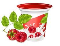 Fundo para o projeto do yogurt da embalagem Fotos de Stock