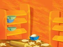 Fundo para o uso variado - animação - ilustração - ilustração para as crianças Foto de Stock