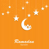 Fundo para o vetor muçulmano do festival de comunidade Imagem de Stock Royalty Free