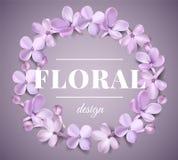 Fundo pastel com flores lilás Fotos de Stock