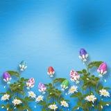 Fundo Pastel com ovos coloridos Imagem de Stock