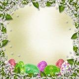 Fundo Pastel com ovos coloridos Fotografia de Stock
