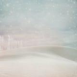 Fundo Pastel da neve do inverno Imagens de Stock