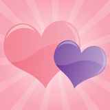Fundo Pastel dos corações Ilustração Stock
