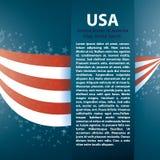 Fundo patriótico da onda com listras, estrelas Imagens de Stock Royalty Free