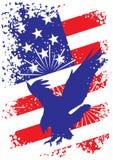 Fundo patriótico dos EUA com águia ilustração stock