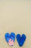 Fundo patriótico dos EUA no Sandy Beach Foto de Stock Royalty Free