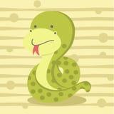 Fundo pequeno bonito da serpente, projeto da camisa das crianças t e educação Imagem de Stock Royalty Free