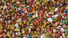 Fundo pequeno colorido da textura das pedras Imagem de Stock Royalty Free