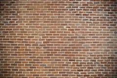 Fundo pequeno da parede de tijolos vermelhos Com espaço para seu texto e Foto de Stock Royalty Free