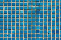 Fundo pequeno do azul das telhas Fotos de Stock