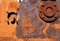 Fundo Perto acima, maquinaria oxidada Dungeness, Kent foto de stock royalty free