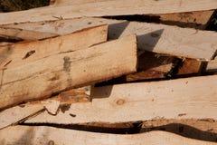 Fundo Pilha de placas de madeira Imagens de Stock Royalty Free