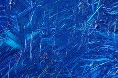 Fundo pintado à mão abstrato azul da lona, textura Contexto textured colorido foto de stock