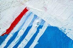 Fundo pintado à mão abstrato azul da lona, textura Contexto textured colorido fotografia de stock