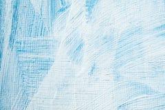 Fundo pintado à mão abstrato azul da lona, textura Contexto textured colorido imagem de stock