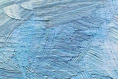 Fundo pintado à mão abstrato com cursos azuis da escova fotos de stock royalty free
