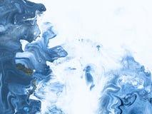 Fundo pintado à mão abstrato de mármore azul imagem de stock