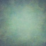 Fundo pintado à mão abstrato do vintage do verde azul fotos de stock