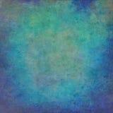 Fundo pintado à mão azul abstrato do vintage fotos de stock royalty free