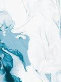 Fundo pintado à mão da arte abstrato azul Fotos de Stock Royalty Free