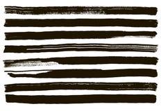 Fundo pintado à mão do sumário sujo preto do vetor Projeto da escova Imagens de Stock