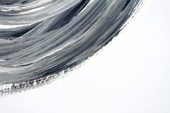 Fundo pintado à mão preto e branco abstrato ilustração stock