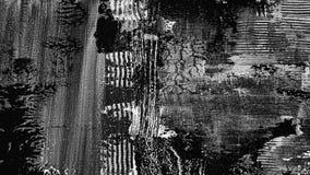 Fundo pintado à mão textured preto e branco escuro abstrato foto de stock royalty free