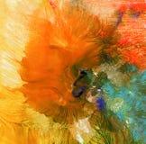 Fundo pintado acrílico abstrato Foto de Stock