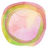 Fundo pintado aquarela do círculo fotografia de stock royalty free