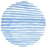Fundo pintado círculo da aquarela Fotos de Stock