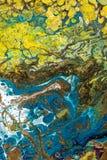 Fundo pintado criativo abstrato com pinturas acrílicas Fotografia de Stock