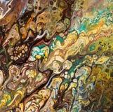 Fundo pintado criativo abstrato com pinturas acrílicas Imagem de Stock