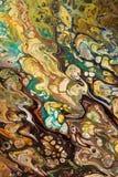 Fundo pintado criativo abstrato com pinturas acrílicas Imagem de Stock Royalty Free