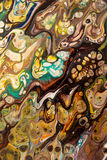 Fundo pintado criativo abstrato com pinturas acrílicas Imagens de Stock Royalty Free