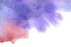 Fundo pintado da aguarela mão abstrata Imagem de Stock