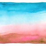 Fundo pintado da aguarela mão azul abstrata Papel Textured fotos de stock royalty free