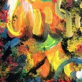 Fundo pintado da arte arco-íris abstrato Imagens de Stock