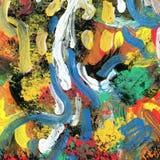 Fundo pintado da arte arco-íris abstrato Fotos de Stock