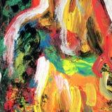 Fundo pintado da arte arco-íris abstrato Fotografia de Stock Royalty Free